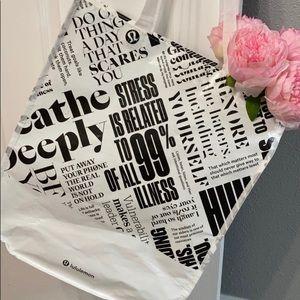 Lululemon tote bag manifesto large reusable